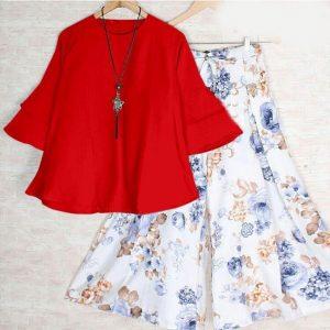 Rayon Stitch Top&Plazzo - FB4260 | Red | CC-12