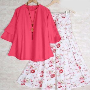 Rayon Stitch Top&Plazzo - FB4260 | Pink | CC-13