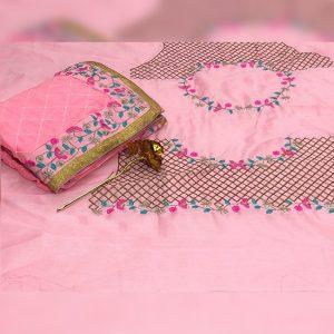 Rangoli Silk Embroidered Saree - FG2638   Pink