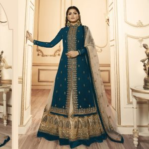 Georgette Dress Material - FG2640 | Greenish Blue