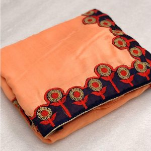 Vichitra Silk Coding Saree - FG2691   Peach