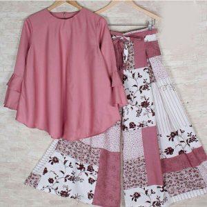 Rayon Stitch Top&Plazzo - FB4260 | Pink | CC-15