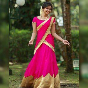 Taffeta Lehanga Choli&Dupatta - FG2732 | Pink