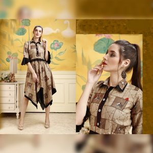 Rayon Stitch Kurti - FG2848 | Light Brown | CC-01