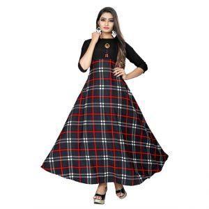 Crepe Stitch Crepe Gown - MPP1714 | Black | CC-14