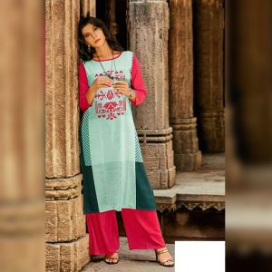 Crepe Kurti&Plazzo - MPP1698 | Light Green | CC-10