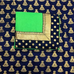 Chanderi Silk Border Saree - FG2880 | Green