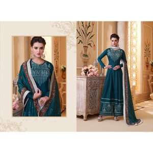Maslin Top Bottom&Dupatta - MPP1710 | Dark Green | CC-21