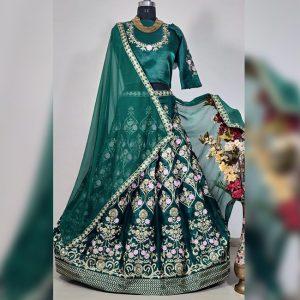 Embroidered Lehanga Choli&Dupatta - FG2792   Green