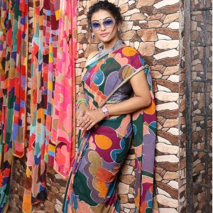Printed Georgette Saree - FG2866 | Gray | CC-02