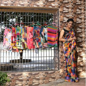 Printed Georgette Saree - FG2866 | Black | CC-04