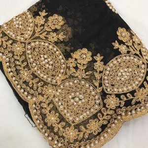 Net Embroidered Saree - FG2879 | Black | CC-06