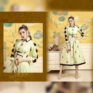 Rayon Stitch Kurti - FG2848 | Light Green | CC-05