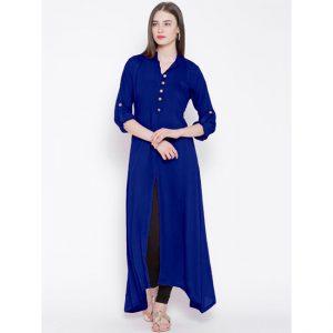 Rayon Stitch Kurti - FG2811 | Blue