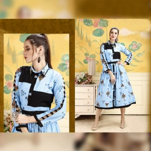 Rayon Stitch Kurti - FG2848 | Light Blue | CC-06
