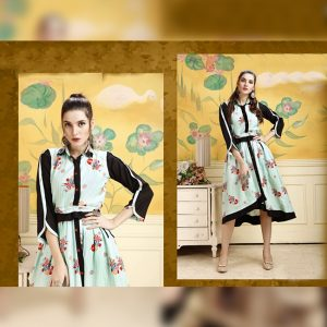 Rayon Stitch Kurti - FG2848 | Light Green | CC-07