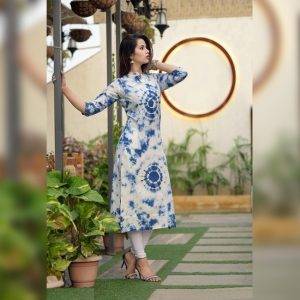 Cotton Slub Stitch Kurti - FG2797 | Blue | CC-02