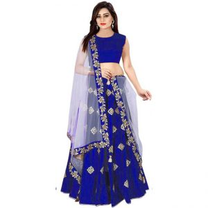 Silk Lehanga Choli&Dupatta - CZ1035   Blue