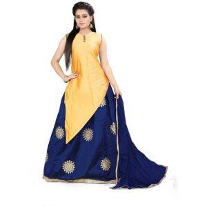 Silk Lehanga Choli&Dupatta - CZ1035   Yellow