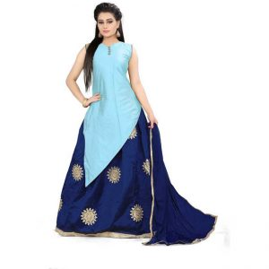 Silk Lehanga Choli&Dupatta - CZ1035   Light Blue