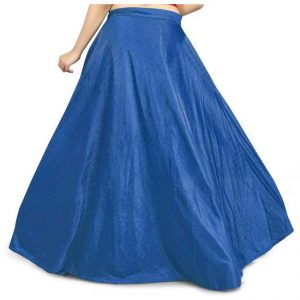 Silk Semi Stitch Lehanga - CZ1032   Blue