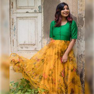 Banglori Silk Stitch Top - FG2892 | Green