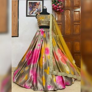 Silk Lehanga Choli&Dupatta - FG2902 | Gray