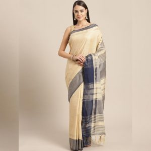 Ayna Silk Jhalar Work Saree - FG2893 | Navy Blue