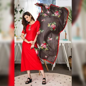 Rayon Gown - FG2886   Red   CC-05