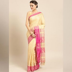 Ayna Silk Jhalar Work Saree - FG2893 | Pink