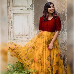 Banglori Silk Stitch Top - FG2892 | Maroon