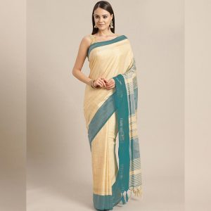 Ayna Silk Jhalar Work Saree - FG2893 | Green