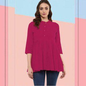 Cotton Stitch Kurti - FG2928   Magenta