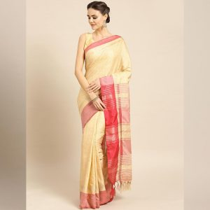 Ayna Silk Jhalar Work Saree - FG2893 | Red