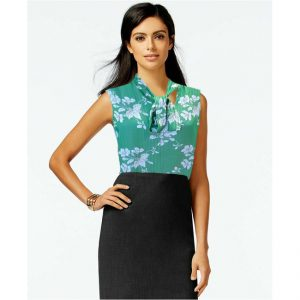 New Stylish Sleeveless Floral Top - NOW1137 | Firozi