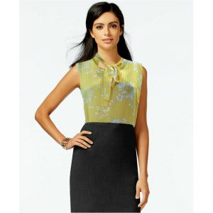 Stylish Sleeveless Floral Top - NOW1139 | Lemon