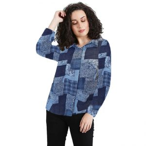 Polyester Mix Designer Shirt – NOW1168 | Blue