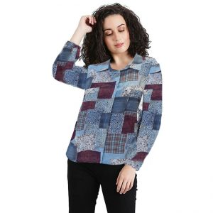 Polyester Mix Designer Shirt – NOW1169 | Brown