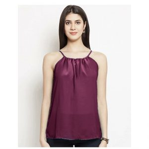 Thin Strap Summer Top – NOW1179 | Maroon
