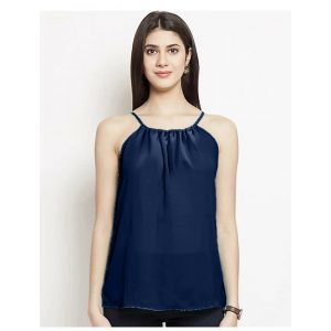 Thin Strap Summer Top – NOW1180 | Navy Blue