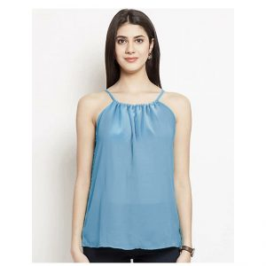 Thin Strap Summer Top – NOW1181 | Light Blue