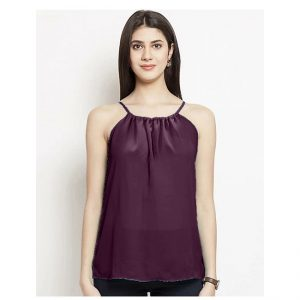 Thin Strap Summer Top – NOW1185 | Dark Maroon