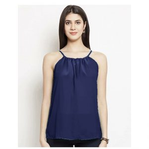Thin Strap Summer Top – NOW1191 | Dark Blue