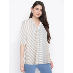 Full Sleeve Stripe Top - NOW1121 | Off White