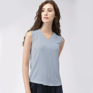 Sleeveless High Quality Top- NOW1122 | Light Blue