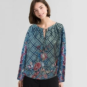 Stylish Round Neck Full Sleeve Top - NOW1145 | Blue