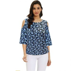 Stylish Floral Top - NOW1146 | Blue