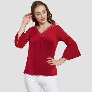 Polyester Mix Designer Shirt – NOW1155 | Red