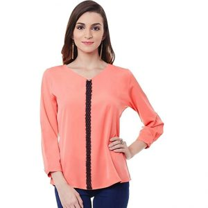 Polyester Mix Designer Shirt – NOW1167 | Peach