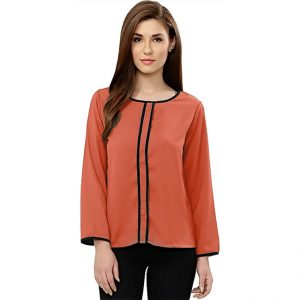 Full Sleeve Stylish Top – NOW1171 | Orange